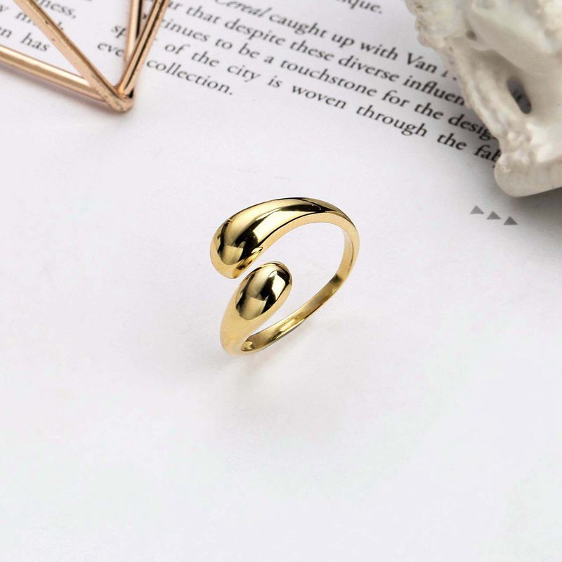 Silvology 925 Sterling Silver Glossy Water Drop Rings Gold Temperament Minimalist Rings For Women 2019 Fashionable Jewelry Gift