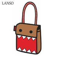 New Creative Fashion 2D Drawing Cartoon Shoulder Messenger Bag 3D Novelty Comic Back To School Bags