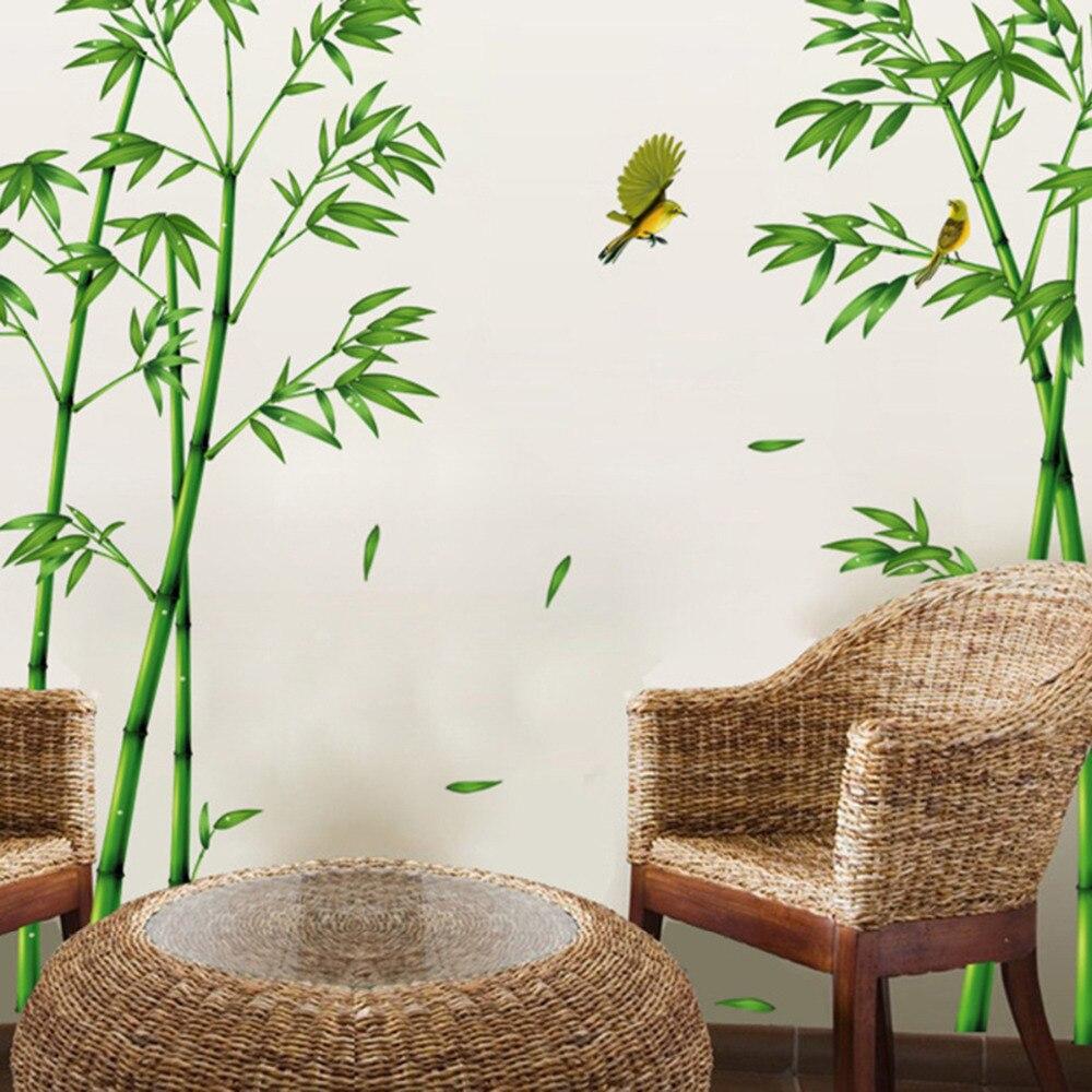 Us 761 17 Offgroene Bamboe Bos Muurstickers Vinyl Diy Decoratieve Muurschilderingen Voor Woonkamer Kast Decoratie Home Decor In Wandstickers Van