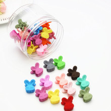 40PCS/lot Fashion Baby Girls Mini Hair Claws Plastic Rabbit Bear Small Crabs Claw Flower Clips Accessories
