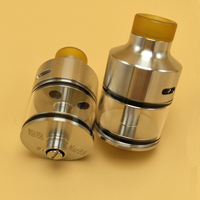 Coppervape Narba Style 316SS RDTA Atomizer 3ml 510 Drip Tip 22mm Diameter Tank Fit For Electronic
