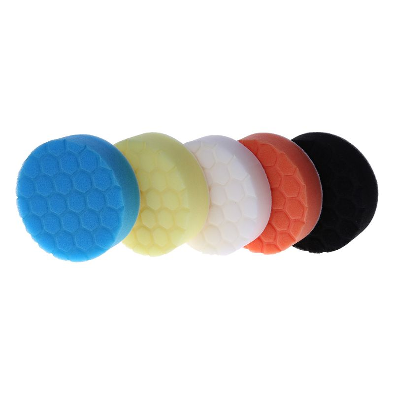 5Pcs 3/4/5/6/7 inch Sponge Buff Pad Professional Quality Pack Polishing Pad kit For Car Polishing Auto Products