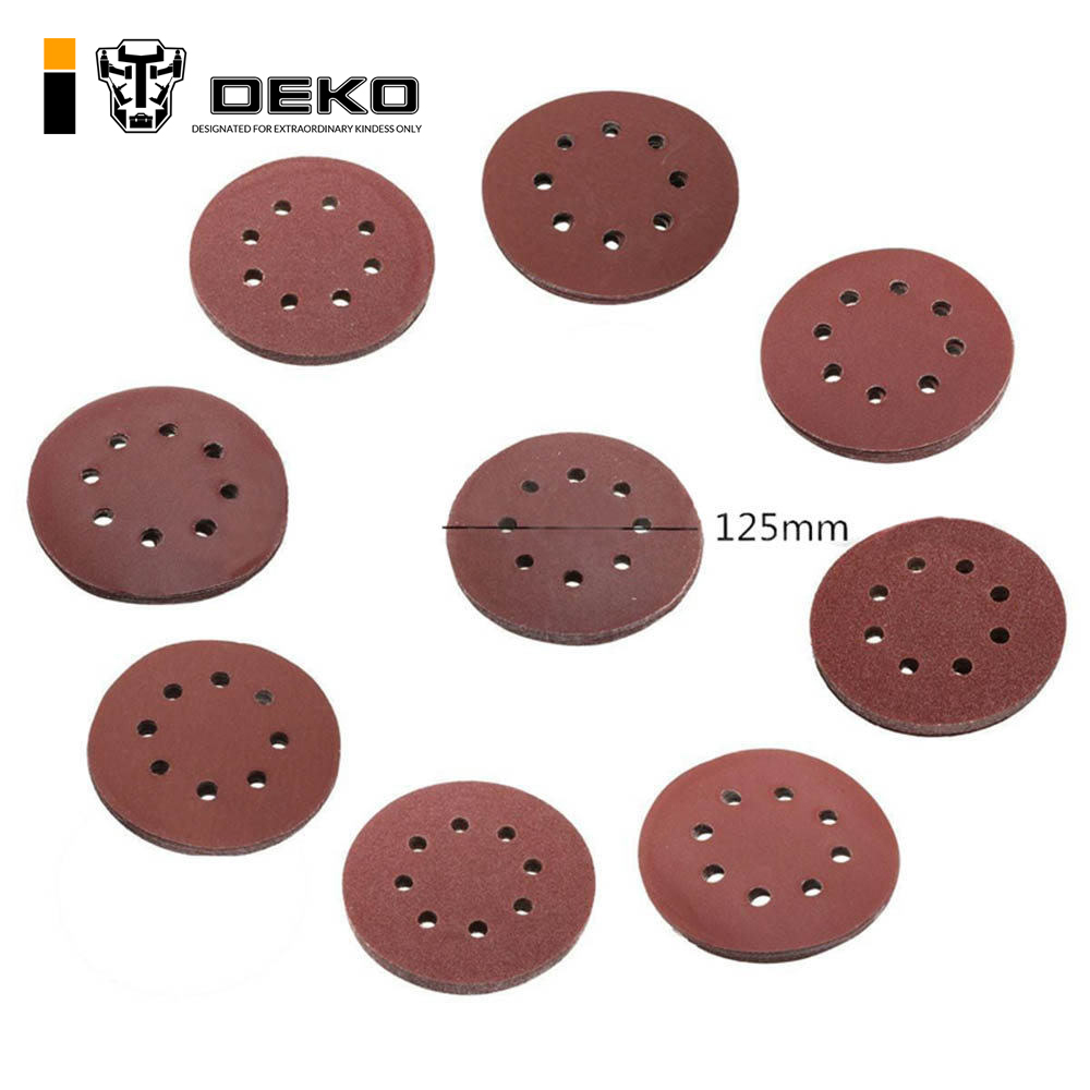 Back To Search Resultstools Competent 50pcs 5 125mm White Sander Sand Paper Sanding Disc Sanding Sheets