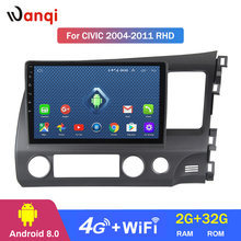 4G Lte All Netcom Android 8.0 Car dvd player Central multimedia for RHD Honda Civic 2004-2011 Stereo GPS Navigation(China)