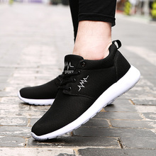 2016 men&women running shoes roshren mesh breathable light sneakers woman sport shoes comfortable athletic shoes 35-44