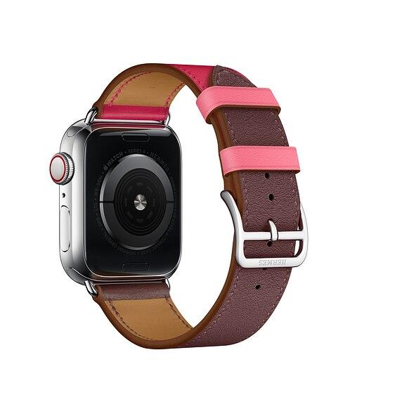 Neueste Echtes Leder strap für apple watch band 42mm/38mm/44mm/40mm für iwatch armband serie 4 3 2 1 einzigen tour gürtel