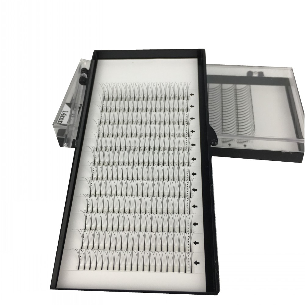 5 Trayslot High quality Volume Fans 3D Eyelash Extensions 100% handmade Individual Lashes Fans Lash Natural free shipping (10)