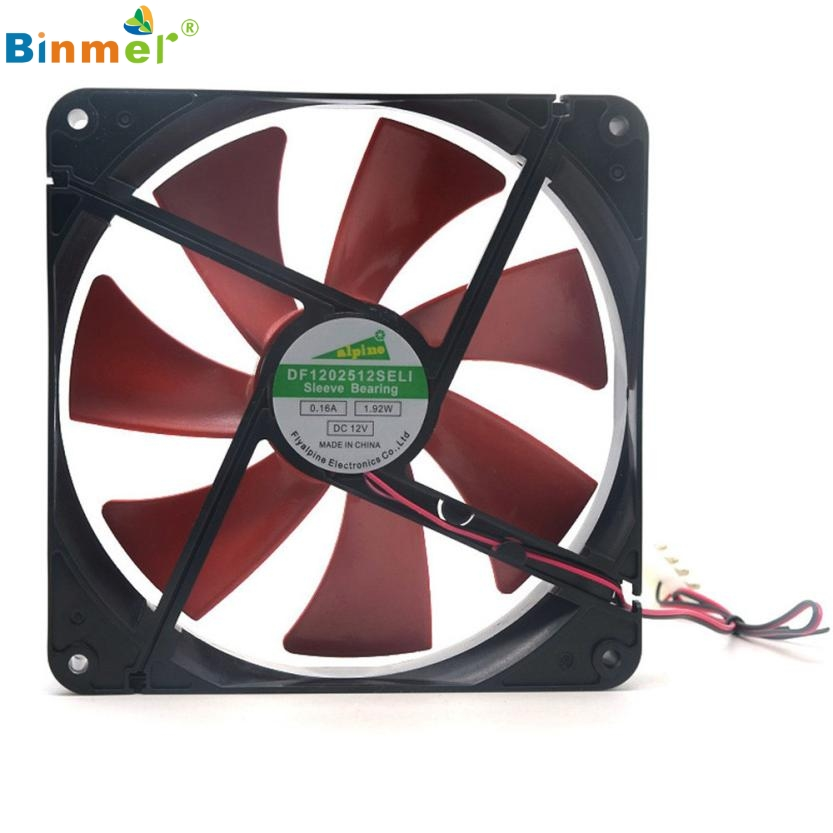 Adroit New Best Silent Quiet 140mm PC Case Cooling Fan 14cm DC 12V 4D Plug Computer Cooler 20S70122 drop shipping pccooler 12cm computer case cooling fan quiet cpu and power cooler fan cooling radiator fan 120mm computer pc chassis fan silent