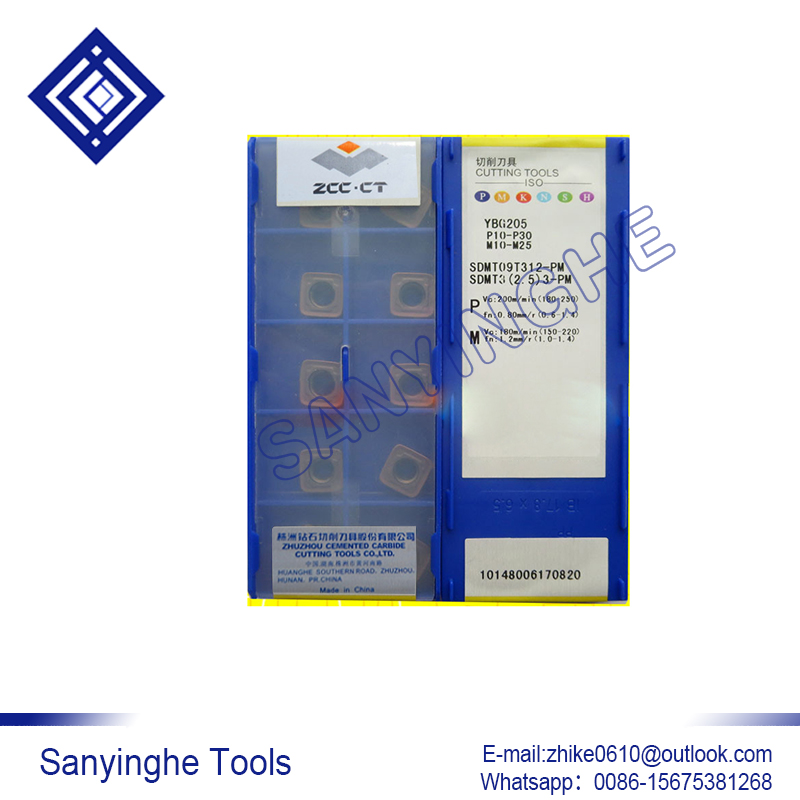 free shipping high quality sanyinghe 10pcs lots YBG205 SDMT09T312 PM cnc carbide turning inserts