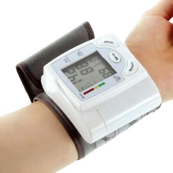 Home Health Care Digital Wrist Blood Pressure Pulse Monitor Sphygmomanometer Automatic Heart Beat Meter Machine 2