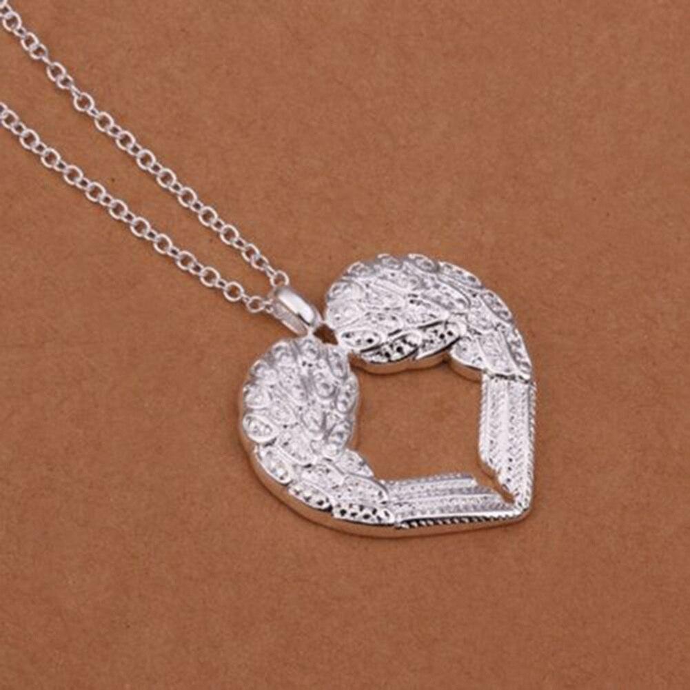 Refaxi Women Jewelry Unique Angel Wing Heart Pendant