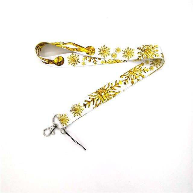 Фото брелок regooly re161 с золотой снежинкой и шеей ожерелье мультипликационным