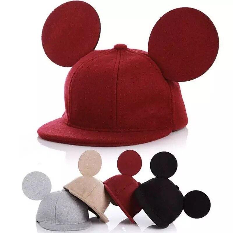 Stereo Ears Woolen Mouse Ear Children Cap Mouse Ears Cute Hat for Girls Boys
