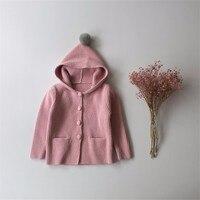 KIKIKIDS New Baby Boy Girl Top Douding Cap Coat Kids Crochet Autumn Hat Sweater Children Knitted
