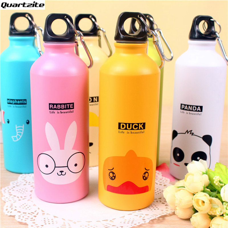 500 ML Bicycle Water Bottle Sport kettle gym kettle run Aluminum sports water animal family Cartoon kettle Hot sales