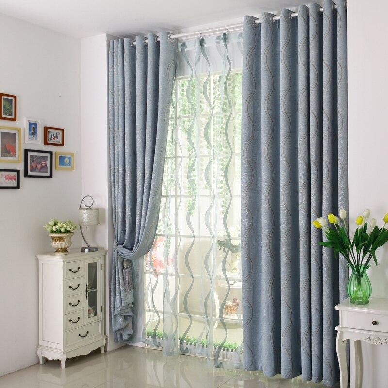 chenille de lujo moderno cortinas cortinas cortinas media blackout persianas cortinas cortina para habitacin de los