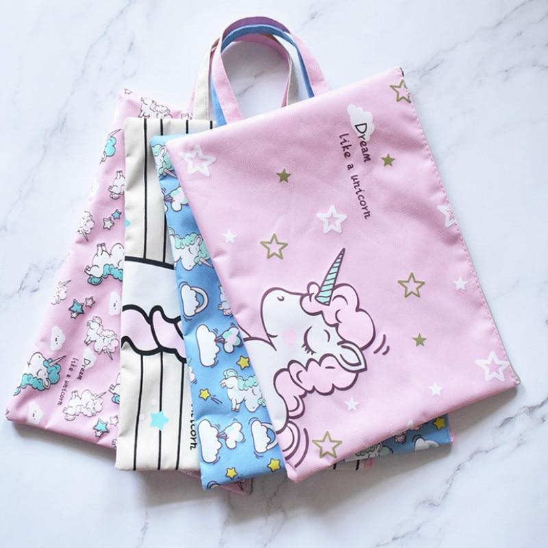 Aliexpress.com : Buy Cute Unicorn File Folder Hand Bag ...
