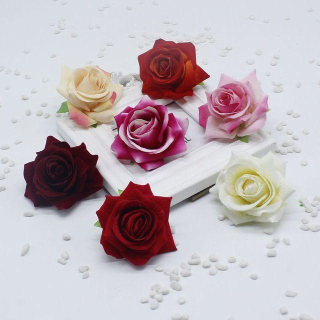 10 Teile Los 7 Cm Kunstliche Blumen Flanell Rosen Blume Kopf