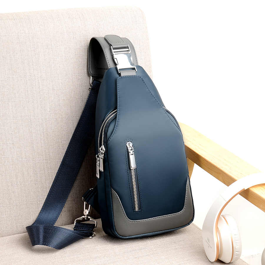 e79bce727c01 Men's Messenger bag shoulder Oxford cloth Chest Bags Crossbody Casual  messenger bags Man USB charging Multifunction Handbag
