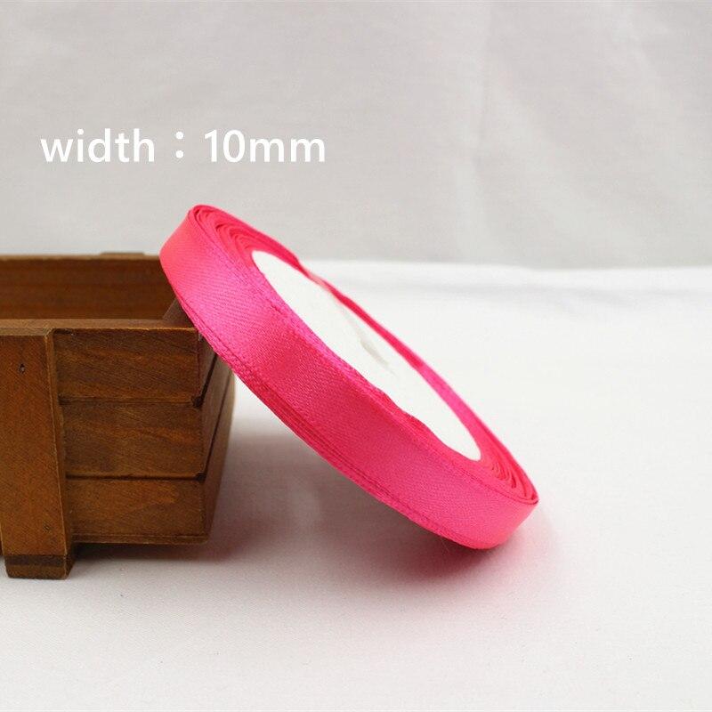 A-166910, 10 мм 31 цвет на выбор 25 ярдов шелковая атласная лента, свадебные декоративные ленты, подарочная упаковка, материалы ручной работы - Цвет: 014