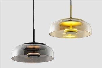 Nordic szkło wisiorek światła minimalistyczny kreatywny światła Bar kawiarnia żyrandol żelaza Droplight jadalnia oświetlenie restauracji