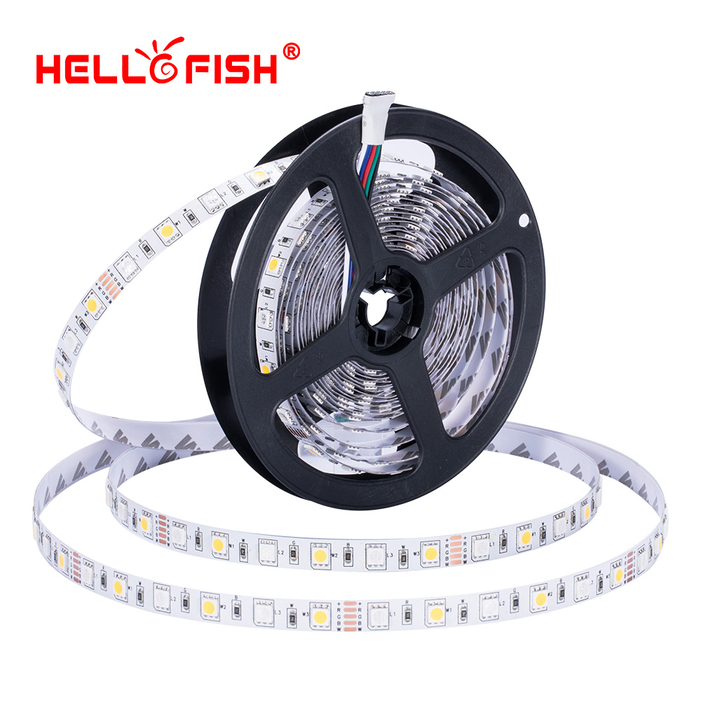 5050 RGBW led diode strip light DC 12V flexible light stripe 5m 300 LED tape lights lighting RGB White Warm white Hello Fish