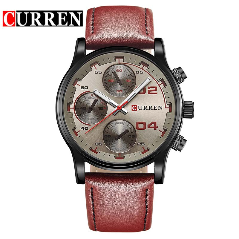 CURREN fashion sport quartz watches men hot casual brand watch man leather analog running wristwatch male hour clock gnoth top brand men watch leather quartz analog hour fashion sapphire clock male waterproof wristwatch hot sale 2017 new arrival