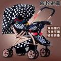 Peso Leve portátil Dobrável carrinho de Bebê Carrinho De Criança, Ultraleve Guarda-chuva Carrinho de Bebé, Quatro Rodas Cheep Preço China Carrinho de Bebê Carrinho De Bebê Macio