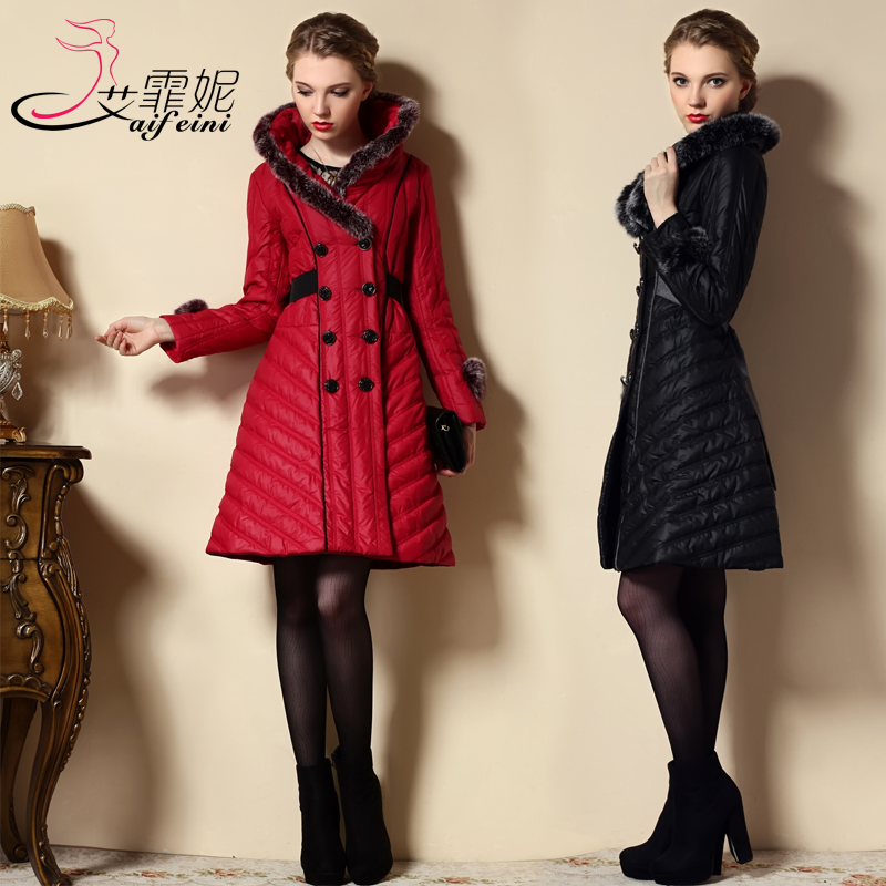 2013 new winter slim warm coat womens medium-long thick padded cotton plus size S-3XL double-breasted fur collar jacket H1790 round led ceiling lights design child living room modern lamp lamparas de techo home lighting fixtures acrylic kitchen lamps
