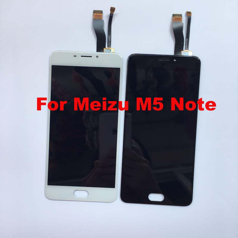 For Meizu M5 Note M621H M621Q M621M M621C Original lcd display screen +digitizer touch screen front glass Assembly flex cable.