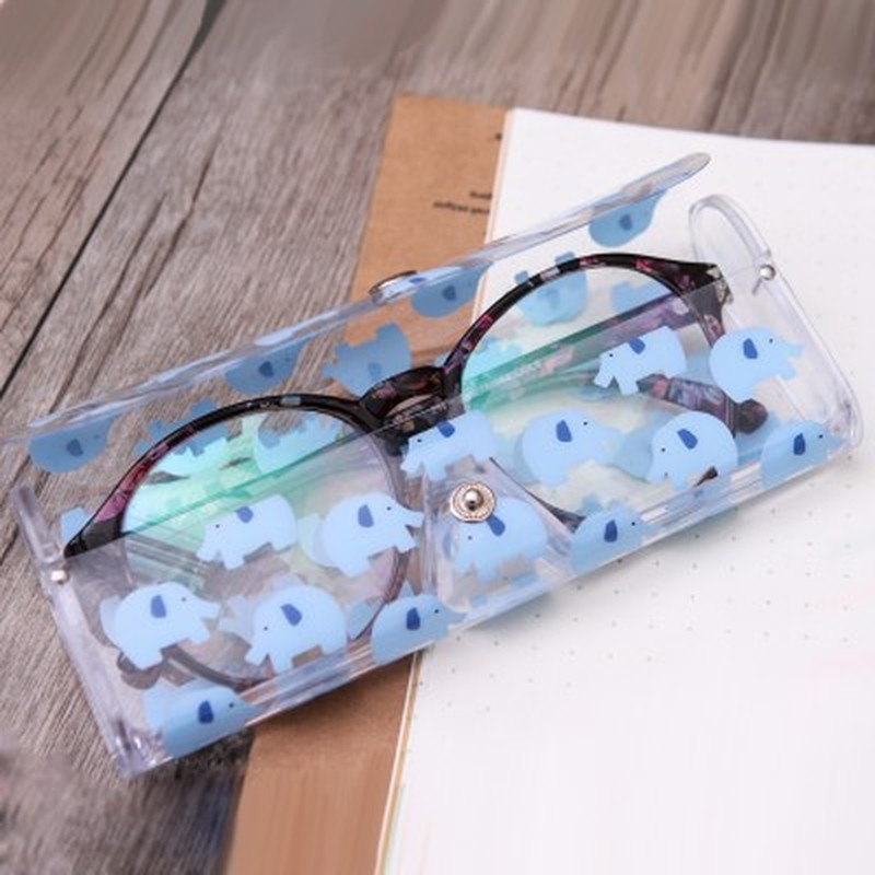 1PC Cute Clear Sunglasses Glasses Case Transparent Glass Spectacle Storage Protection Carry Box Nice Fashion Eyewear Accessoires