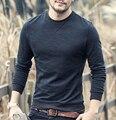 MEZCLA de HOMBRE 2016 Nueva Llegada Mens Hoodies Sudaderas O-cuello Para Hombre Sudaderas Larga Camiseta Para Hombre Otoño y el invierno de algodón de bambú