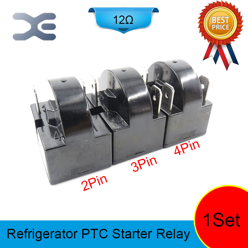 цена на 3PCS PTC Starter Relay Accessories Refrigerator Display Refrigerator New Refrigerator Parts Starter Parts 2PIN 3PIN 4PIN 12OHM