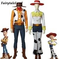 Вуди из «Истории игрушек», костюм для косплея, аксессуар, ковбойский костюм талисмана, ковбойская девушка, Джесси, косплей, реквизит с ботин