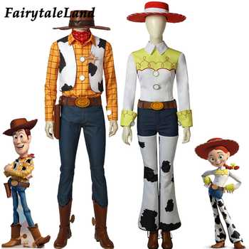 Toy Story Woody Cosplay Costume suit Accessory Cowboy Mascot Costume Cowgirl Jessie Cosplay Props with boots outfits Shirt - DISCOUNT ITEM  15% OFF All Category