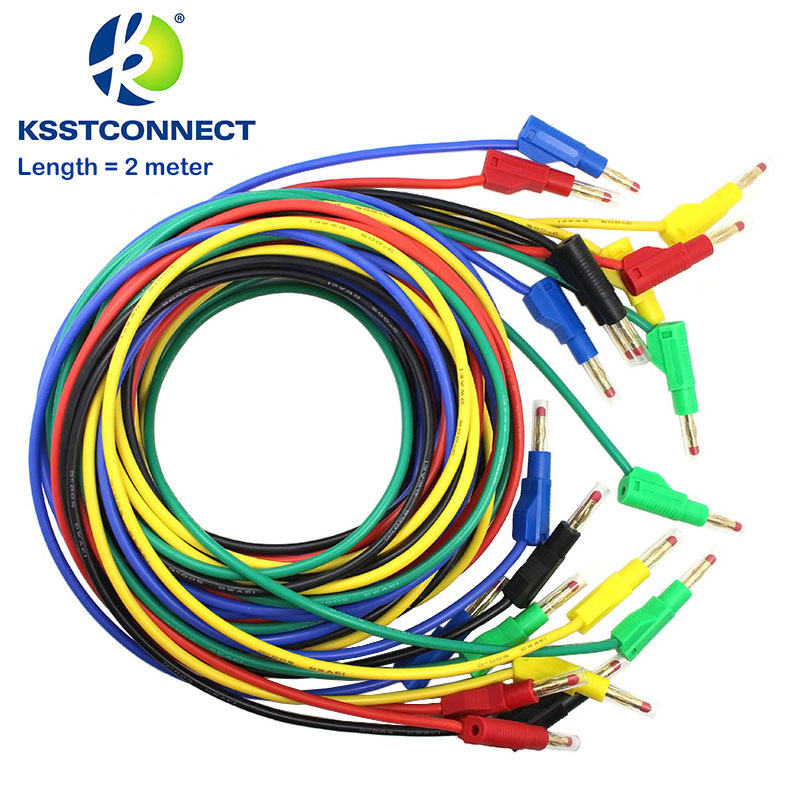 TL470G  Length=2.0meter High Quality 13AWG2.5seq mm flexible silicone test leads 4mm male retractable plug stackable leadsTL470G  Length=2.0meter High Quality 13AWG2.5seq mm flexible silicone test leads 4mm male retractable plug stackable leads