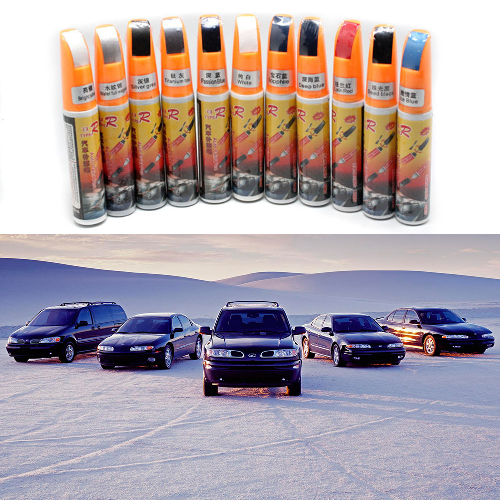 Hot Professional Car Care Paint Repair Pens Waterproof Clear Car Scratch Remover Painting Remover Pen 11colors 12ml