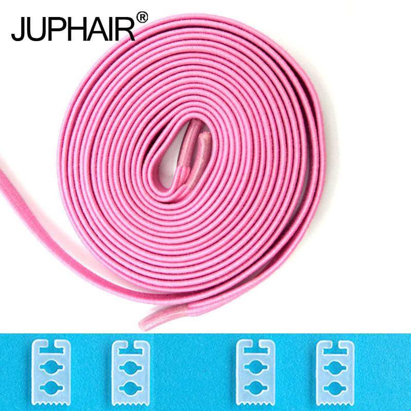 JUP 1-50 Pair Pink High Quality New Design Children Without Tie Rubber Elastic Lace Sneakers Shoelaces  Sports Shoes Lacing Blue