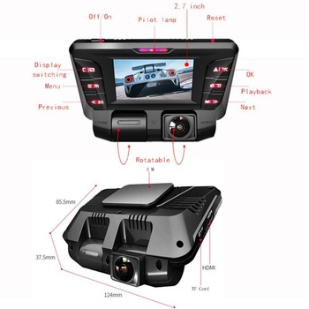 V28 HD Lens Camera Car DVR Dash Cam Video Recorder Night Vision