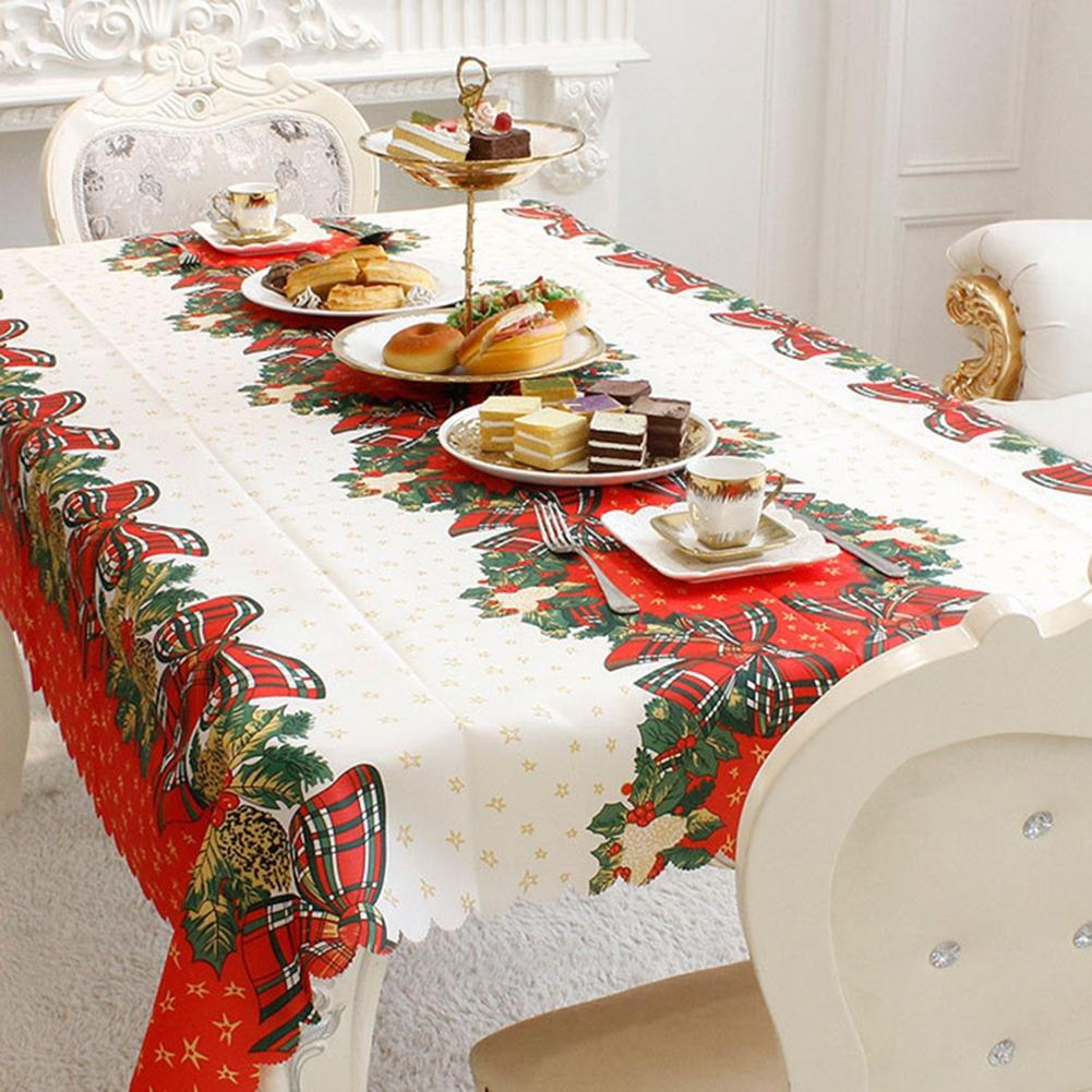 Adeeing Rectangle Tablecloth Household Print Cloth Restaurant Christmas Decoration Table Runner