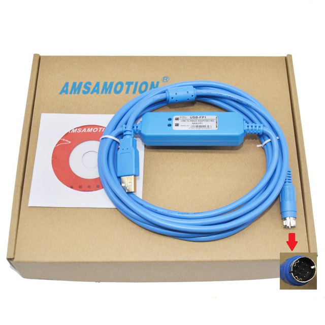 USB-FP1,USB-AFP8550 V2.0 PLC Programming Cable for FP1 PLC,Support WIN7