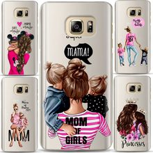 Fashion Zwart Bruin Haar Baby Mom Meisje Koningin 01 Case Voor Samsung Galaxy S7 S8 S9 S10 A6 A8 PLUS 2018 Siliconen Vrouw Telefoon Cover(China)