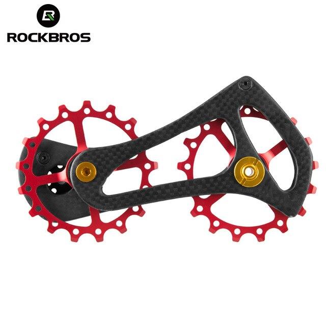 ROCKBROS fibre de carbone vtt vélo de route arrière dérailleur poulies roue 17 T 11 vitesse pour 4600 4700 5700 5800 105 dérailleur de vélo