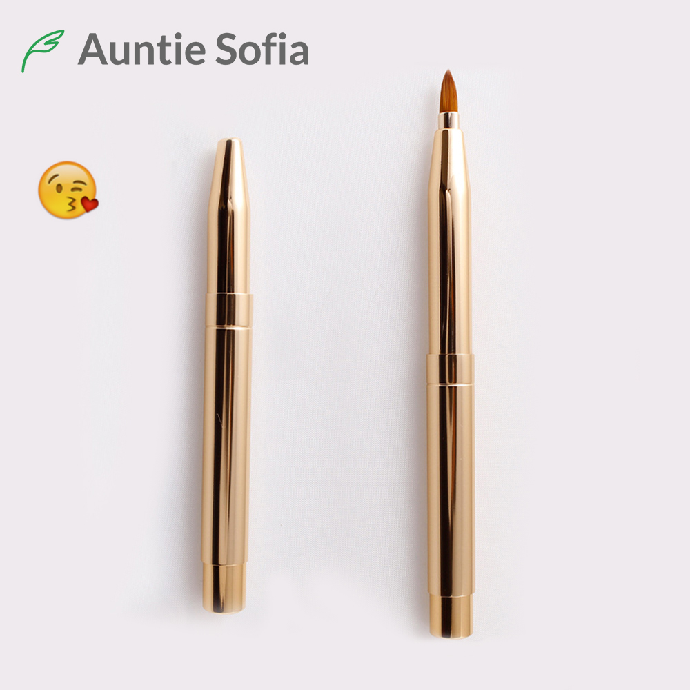 Retractable Eye Brush Professional Makeup Brush 2 Heads Lip Brush Eyeliner Portable Concealer Eyeliner Lipstick Makeup Brush