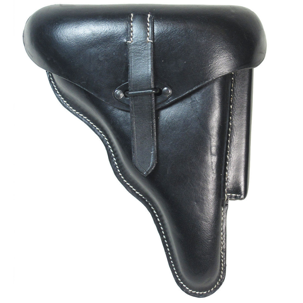 WWII GERMAN WEHRMACHT LUFTWAFFE LUGER P38 HOLSTER HARD SHELL BLACK REPRO World military Store