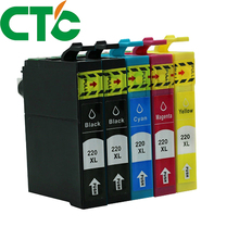 5 Pack T2201 220xl Compatible Ink Cartridge for INK WorkForce WF-2630 WF-2650 WF-2660 WF-2750 WF-2760 t220 220xl ciss combo arc chip for epson wf 2750 wf 2650 wf 2750dwf wf2750 wf2750dwf wf 2650 2660 2760 2750 2750dwf printer
