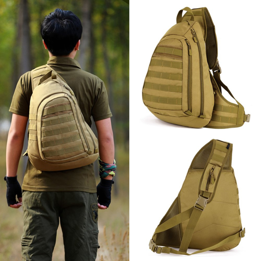 Sport Bag Camping Men Military Tactical Travel Hiking Messenger Shoulder Back Pack Sling Chest Rucksack Wearable Anti-Tear Brand