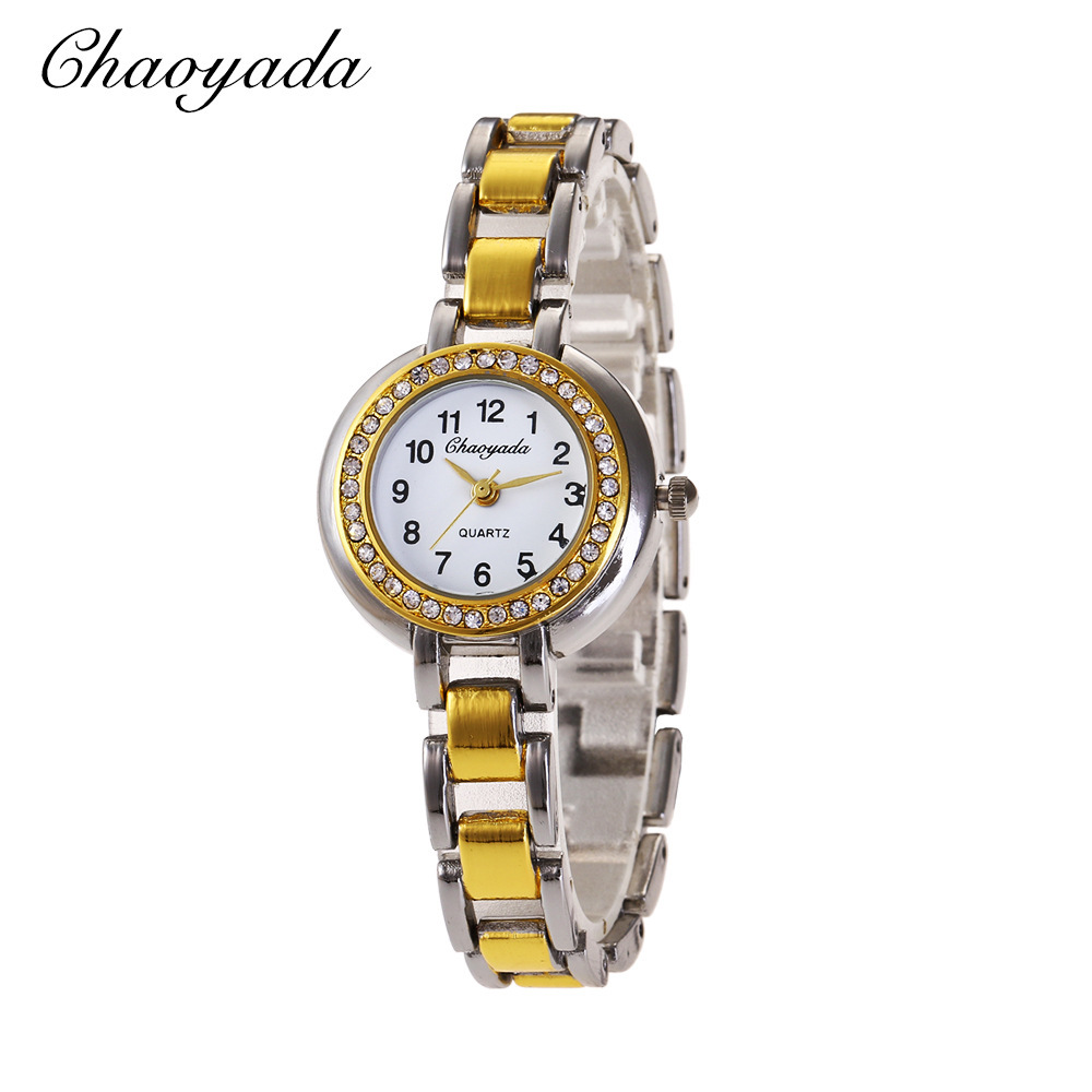 Chaoyada Business Affairs Quartz Wrist <font><b>Watch</b></font> Female <font><b>Sex</b></font> Fashion Trend Wrist-<font><b>watches</b></font> Exquisite Disc Bring Drill Wrist <font><b>Watch</b></font> Group image