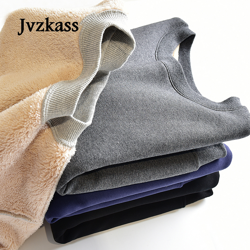 Jvzkass 2019 Plus Cashmere Women Version Of Tide And Winter Models Warm Solid Color Thickening Winter Female Hedging Loose Z53