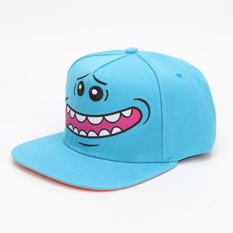 Cartoon Rick and Morty Hat Mr. Meeseeks Whimsy Adjustable Casquette   Baseball     Caps   Hip Hop Snapback   Caps   Adult Hats